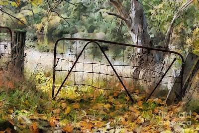 Digital Art - Old Farm Gate by Fran Woods