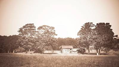 Photograph - Old Farm House-aged by Onyonet  Photo Studios