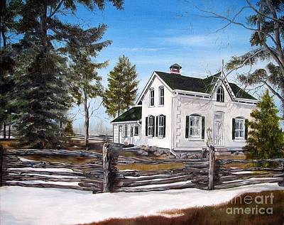Old Farm House Art Print