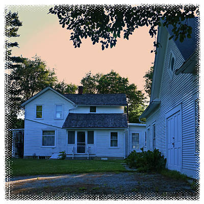 Photograph - Old Farm House At Dusk by Scott Kingery
