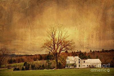 Photograph - Old Farm House On A Hill by Alana Ranney