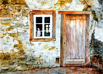 Painting - Old Farm House by Sher Nasser