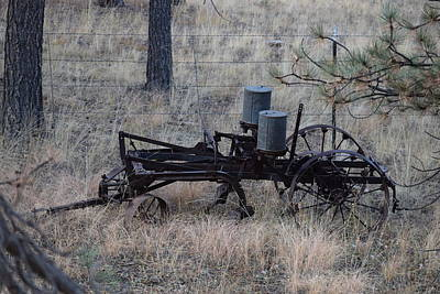 Old Farm Implement Lake George Co Art Print