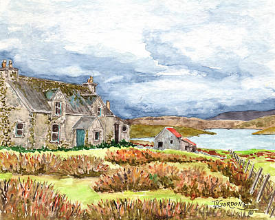 Old Farm Isle Of Lewis Scotland Art Print by Timithy L Gordon