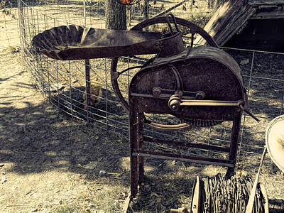 Old Farm Machinery Art Print by Theresa Campbell
