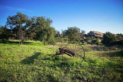Photograph - Old Farm Relic In Simi Valley by Lynn Bauer