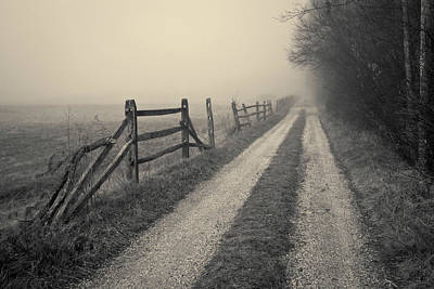 Brown Tones Photograph - Old Farm Road Toned by David Gordon