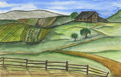 Painting - Old Farm by Sara Stevenson