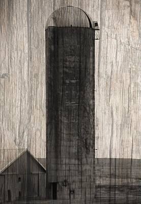 Photograph - Old Farm Silo On Wood Panel by Dan Sproul