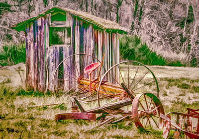 Photograph - Old Farm Tools by Jean OKeeffe Macro Abundance Art