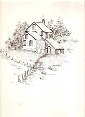 Old Farmhouse Art Print by Barbara Cleveland