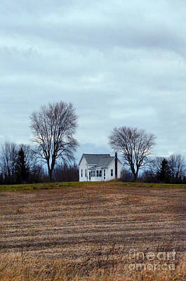 Photograph - Old Farmhouse Between Trees by Jill Battaglia