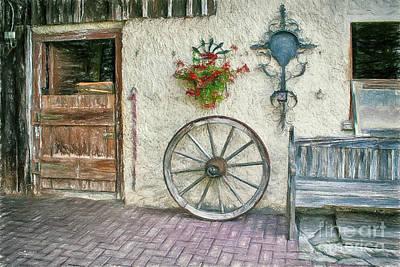 Photograph - Old Farmhouse by Jutta Maria Pusl