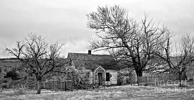 Photograph - Old Farmhouse Monochrome by Chalet Roome-Rigdon