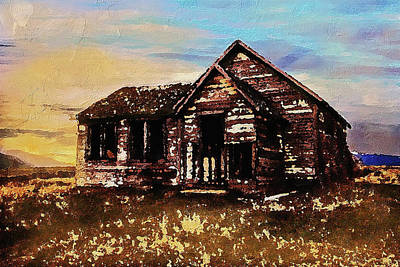 Digital Art - Old Farmhouse by PixBreak Art