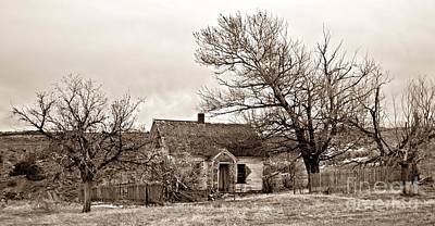 Photograph - Old Farmhouse Sepia by Chalet Roome-Rigdon