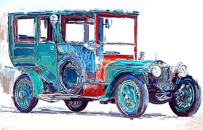 Digital Art - Old Fashion Car by Yury Malkov