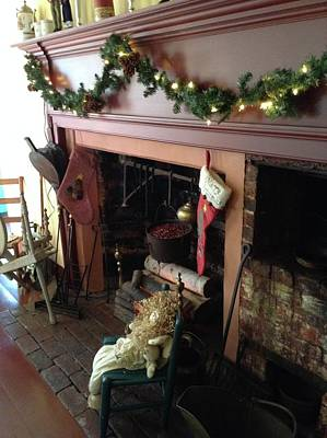 Photograph - Old Fashion Christmas Hearth by Lynn-Marie Gildersleeve
