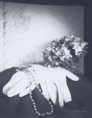 Beaded Gloves Photograph - Old Fashion Elegance by Deborah Shupenis