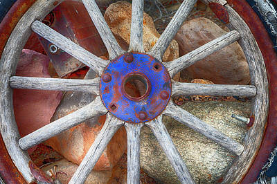 Photograph - Old Fashion Wheel by Indiana Zuckerman