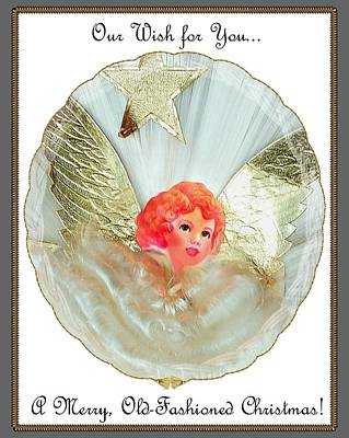 Digital Art - Old Fashioned Angel Topper by Ellen Barron O'Reilly