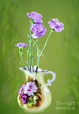 Photograph - Old Fashioned Bouquet by Shirley Mangini