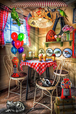 Photograph - Old Fashioned Country Candy And Ice Cream Parlor In Hdr Colors by Debra and Dave Vanderlaan