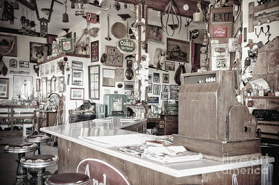 Stools And Counter Photograph - Old Fashioned Diner by Dave & Les Jacobs