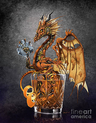 Old Fashioned Dragon Art Print