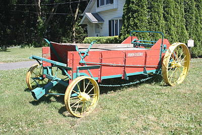 Photograph - Old Fashioned Fertilizer Tractor by John Telfer