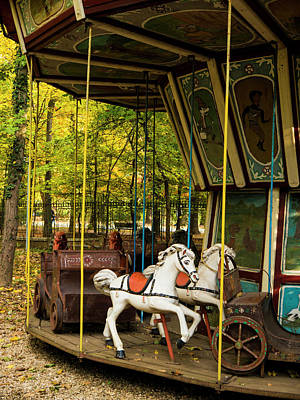Photograph - Old-fashioned Merry-go-round by Rae Tucker