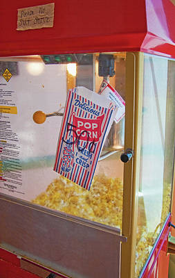 Old-fashioned Popcorn Machine Print by Steve Ohlsen
