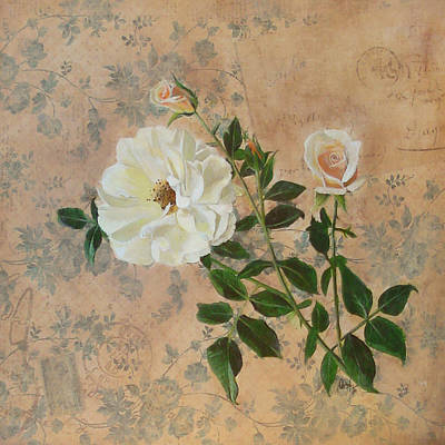 Old Fashioned Rose Art Print by Carrie Jackson