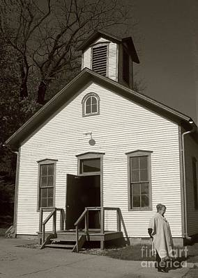 Old-fashioned School House Art Print by Emily Kelley