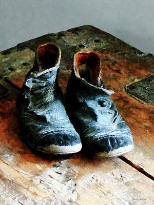 Shoe Photograph - Old-fashioned Shoes by Susan Savad