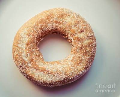 Photograph - Old Fashioned Sugar Donut by Cheryl Baxter
