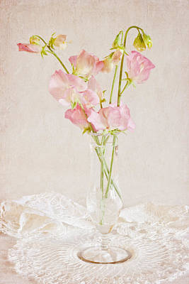Old Fashioned Sweet Peas Art Print
