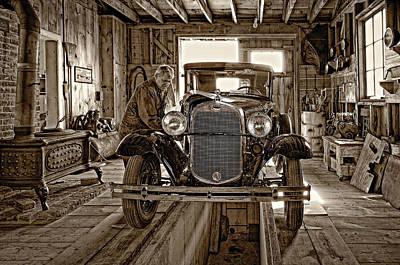 Car Repairs Photograph - Old Fashioned Tlc Monochrome by Steve Harrington