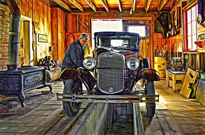 Car Repairs Photograph - Old Fashioned Tlc - Paint by Steve Harrington