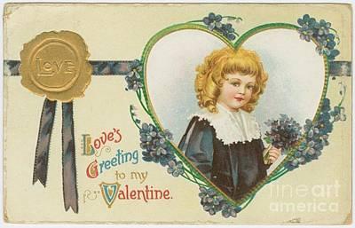 Old Fashioned Valentine Three Art Print