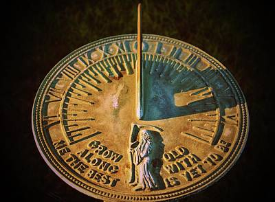 Photograph - Old Father Time Sundial by Cynthia Guinn