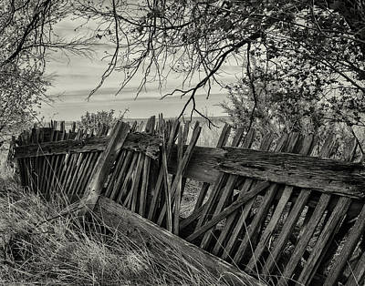 Decrepit Digital Art - Old Fence by Andrew Mayo