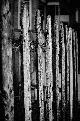Photograph - Old Fence In The City by Miguel Winterpacht