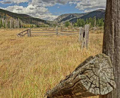Photograph - Old Fence In The Mountains by Dan Sproul