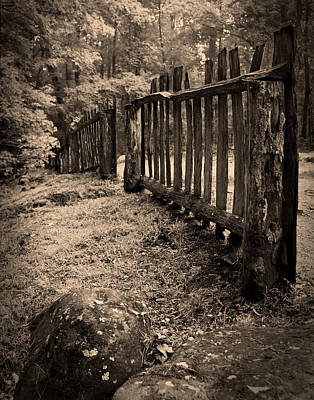 Photograph - Old Fence by Larry Bohlin