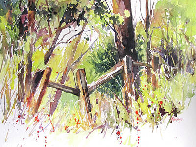 Painting - Old Fence by Rae Andrews