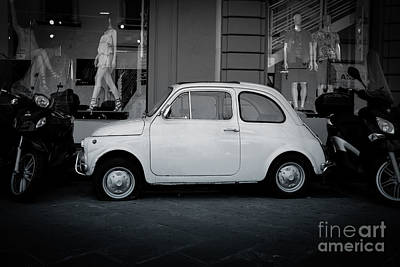 Old Fiat On The Streets Of Florence Art Print by Edward Fielding