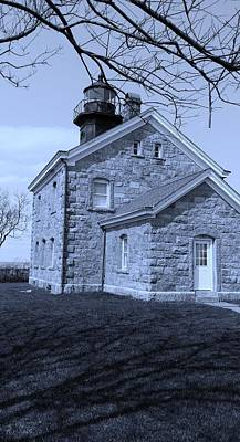 Photograph - Old Field Light House  Cyan by Rob Hans
