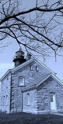 Photograph - Old Field Light House N Y  Cyan by Rob Hans