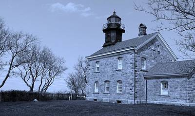 Photograph - Old Field Lighthouse Cyan  by Rob Hans